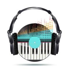 vinyl headphones vector image vector image