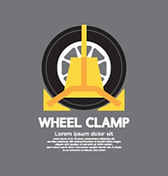 Wheel Clamp Side View vector image vector image