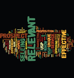 Your usp is useless text background word cloud vector