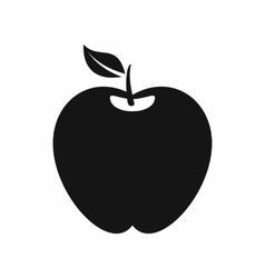 Apple icon simple style vector