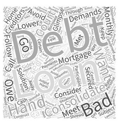 What is bad credit debt consolidation word cloud vector