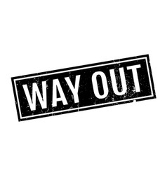 way out rubber stamp vector image