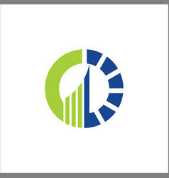 round arrow business logo vector image