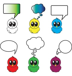 Birds with different bubbles for text vector image