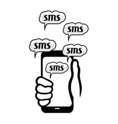 Sms concept vector