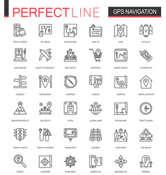 Navigation thin line web icons set gps location vector