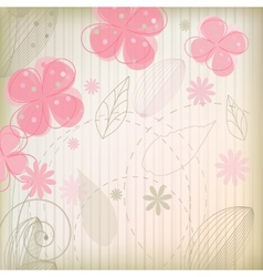 Vintage flower on background vector image