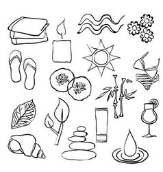 Doodle spa images vector