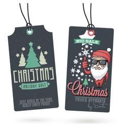 Christmas sales hang tags vector
