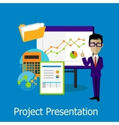 Project presentation concept design style vector