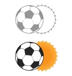 Football sun eclipse vector