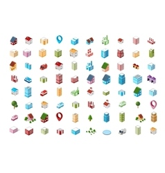 Icons isometric city vector