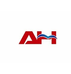 A and h logo vector