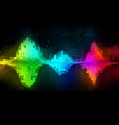Background abstract technology communication wave vector