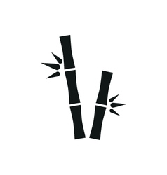 Bamboo stems simple icon on white background vector