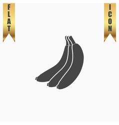 Banana flat icon vector