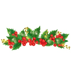 Beautiful christmas garland vector