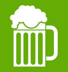 beer mug icon green vector image vector image