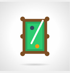 billiard entertainment flat color icon vector image vector image
