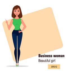 character beautiful business woman 21 vector image