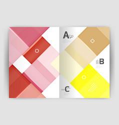 colorful modern stripes business flyer vector image