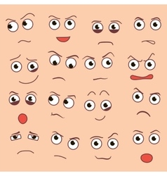creative cartoon style smiles with vector image