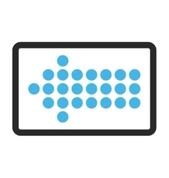 Dotted arrow left framed icon vector