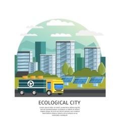 Ecological city concept vector