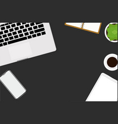 flat design of office and workspace vector image