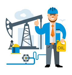 Gas and oil industry flat style colorful vector
