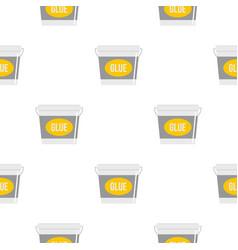 Glue bucket pattern flat vector