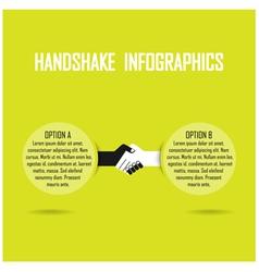 handshank infographics vector image vector image