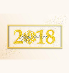 Holiday new year card on white background vector