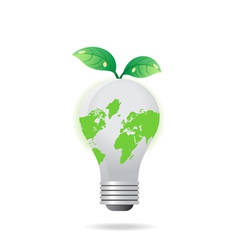 light bulb leaf vector image