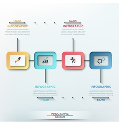 Modern infographics options banner vector image vector image