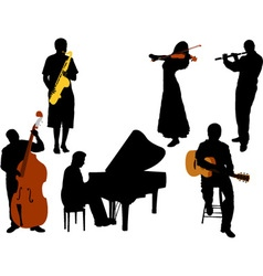 musicians vs vector image