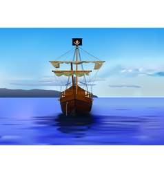 pirates ship vector image vector image