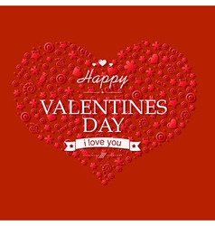 Red valentines day card vector