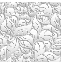Seamless floral pattern with shadow vector image vector image
