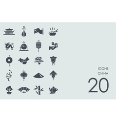 Set of China icons vector image vector image