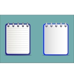 Set of notepads is blue in two variants vector