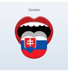 Slovakia language Abstract human tongue vector image vector image