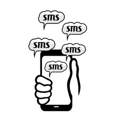 sms concept vector image