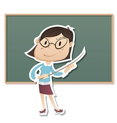 Strict Teacher vector image