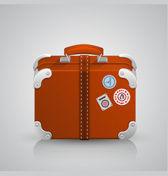 Suitcase for travel vector