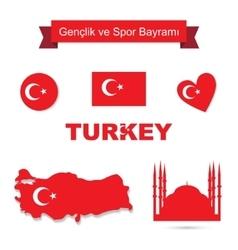 Turkey set vector image vector image
