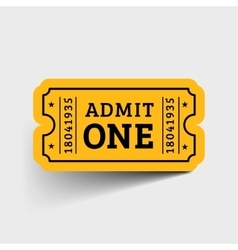 Vintage Ticket Icon vector image vector image