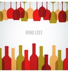 wine glass bottle art background vector image