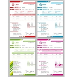 Invoice templates set vector