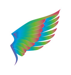 Angel wings isolated icon vector